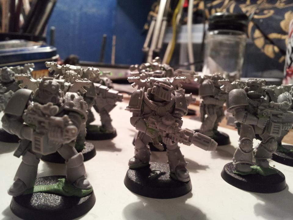 Alan's first WIP shot, a Veteran Squad of the Saraph Splinter.