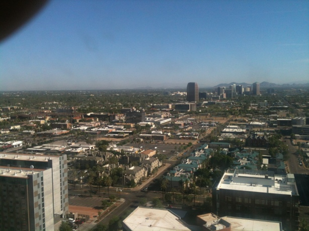 Here's Phoenix from our hotel window. The flattest city I ever did see.
